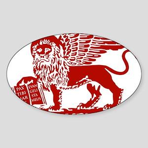 LionRed Sticker (Oval)