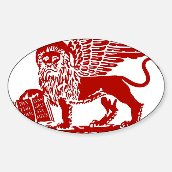 LionRed Sticker (Oval)
