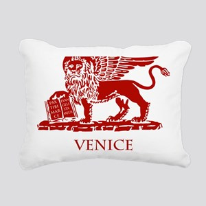 Venice Lion Rectangular Canvas Pillow