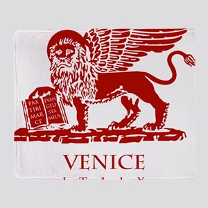 Venice Lion Throw Blanket