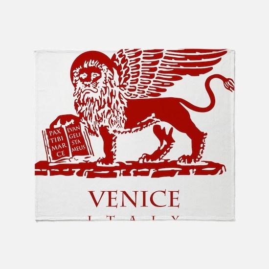 Venice Lion Throw Blanket