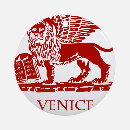Venice Lion Round Ornament