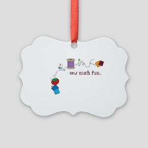 Sew Much Fun Picture Ornament