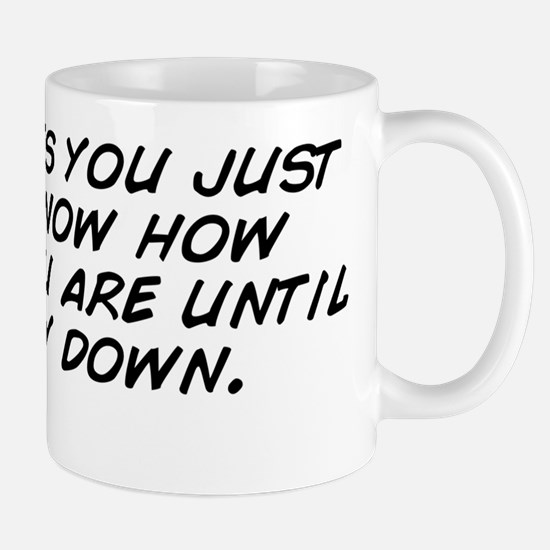 sometimes you just don't know how  Mug