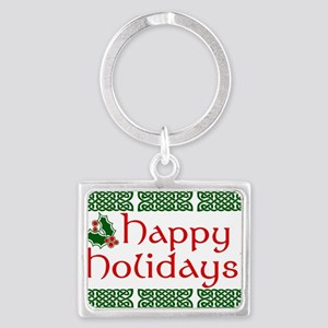 Happy Holidays Landscape Keychain