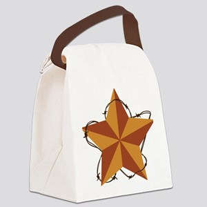 Country Western Star Canvas Lunch Bag