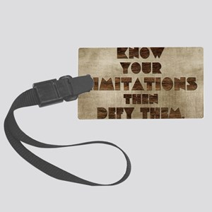 Card Know your limitations then  Large Luggage Tag