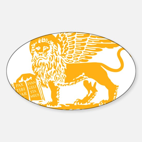 LionGalben Sticker (Oval)