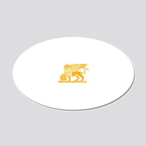 LionGalben 20x12 Oval Wall Decal