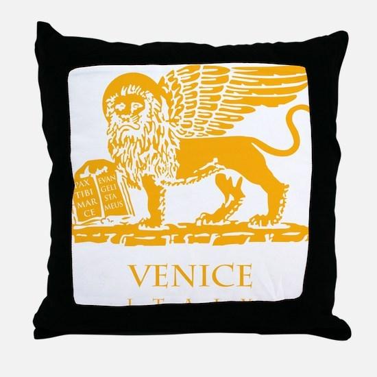venetian flag Throw Pillow