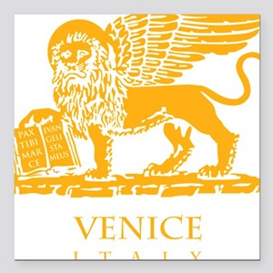 "venetian flag Square Car Magnet 3"" x 3"""