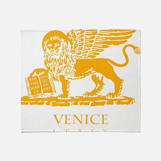 venetian flag Throw Blanket