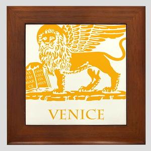 venetian flag Framed Tile