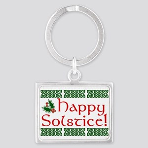 Happy Solstice Landscape Keychain