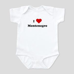 I Love Montenegro Infant Bodysuit
