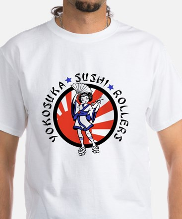 Sushi Rollers White T-Shirt