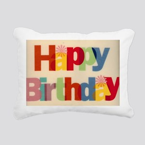 Happy Birthday Rectangular Canvas Pillow