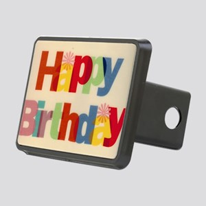 Happy Birthday Rectangular Hitch Cover