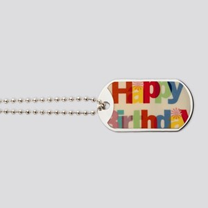 Happy Birthday Dog Tags