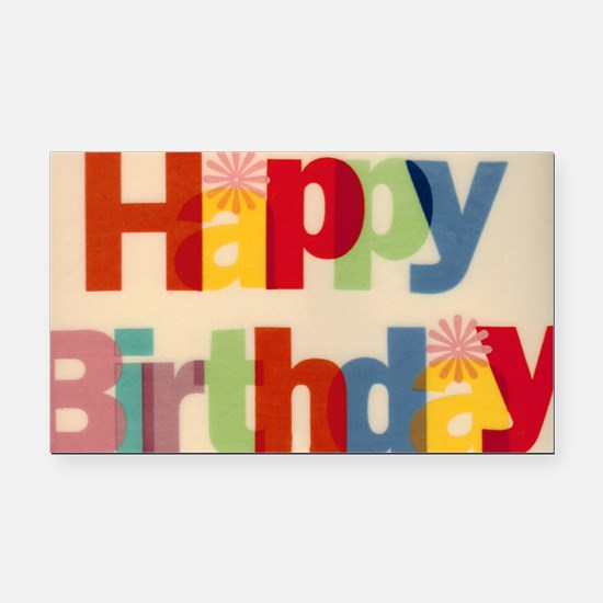 Happy Birthday Rectangle Car Magnet