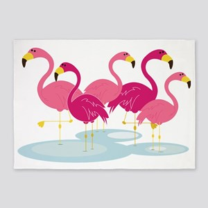 Flamingos 5'x7'Area Rug