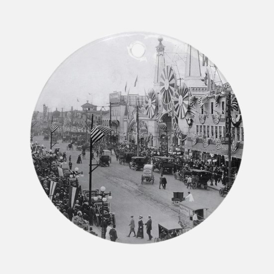 Coney Island Strets 1826595 Round Ornament