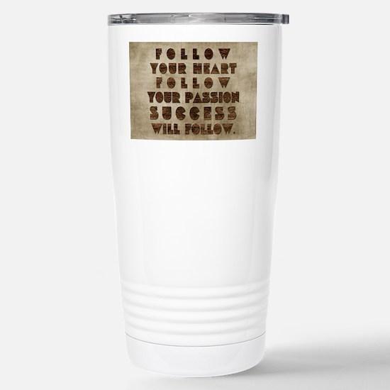 card follow your heart  Stainless Steel Travel Mug