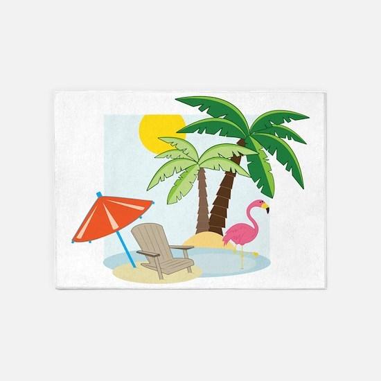Summer Beach 5'x7'Area Rug