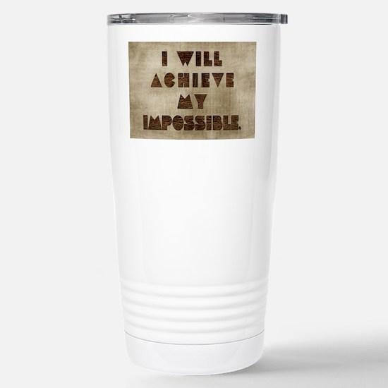 Card I will achieve my  Stainless Steel Travel Mug