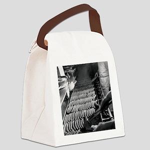 Nathans Hotdog Stand Coney Island Canvas Lunch Bag