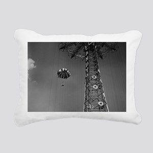 Coney Island Parachute J Rectangular Canvas Pillow