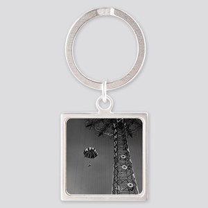 Coney Island Parachute Jump 167305 Square Keychain