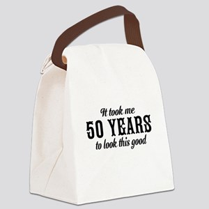 50th Birthday Canvas Lunch Bag