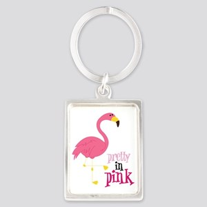 Pretty In Pink Portrait Keychain