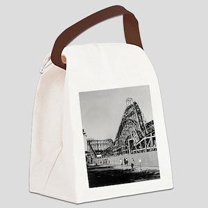 Coney Island Cyclone Roller Coast Canvas Lunch Bag