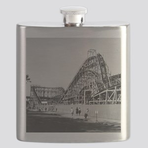 Coney Island Cyclone Roller Coaster 1826587 Flask
