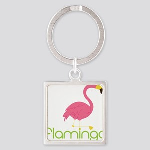Flamingo Square Keychain