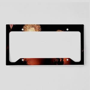 Fireworks - GG Bridge License Plate Holder