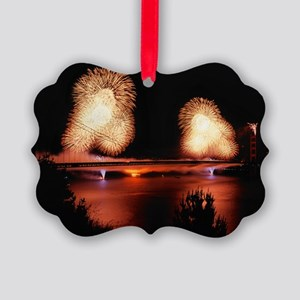 Fireworks - GG Bridge Picture Ornament
