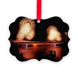 Golden gate bridge 75th anniversary Picture Frame Ornaments