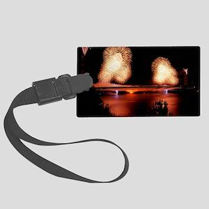 Fireworks - GG Bridge Large Luggage Tag