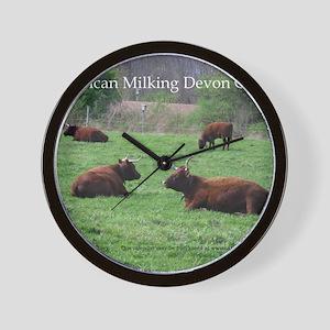 Milking Devon Cattle Wall Clock