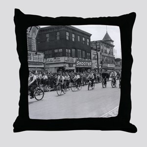 Coney Island Bicyclist 1826632 Throw Pillow