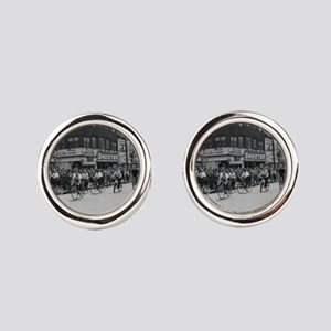 Coney Island Bicyclist 1826632 Cufflinks