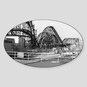 Coney Island Roller Coaster 1826616 Sticker (Oval)
