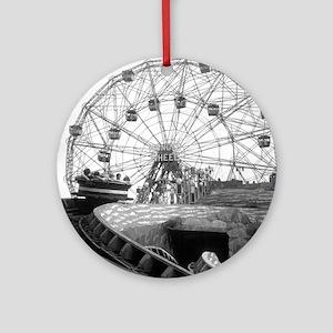 Coney Island Amusement Rides 182661 Round Ornament