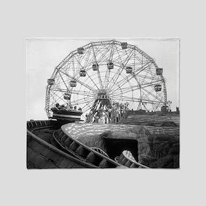 Coney Island Amusement Rides 1826612 Throw Blanket