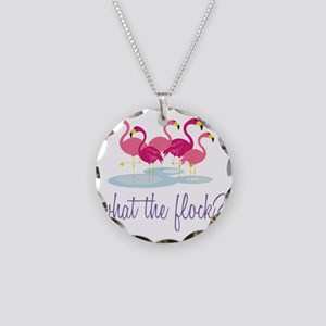 What The Flock? Necklace Circle Charm