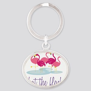 What The Flock? Oval Keychain