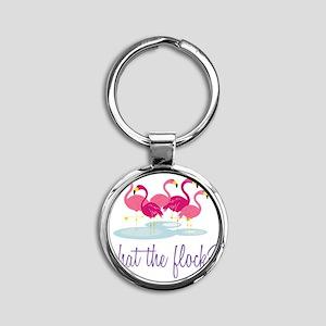 What The Flock? Round Keychain